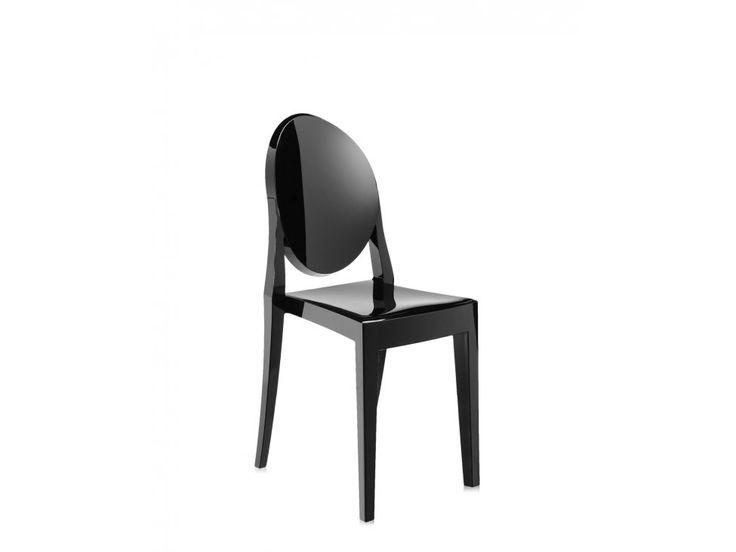Krzesło Victoria Ghost czarne — Krzesła Kartell — sfmeble.pl