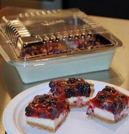 Red, White and Berry Cheesecake Bars