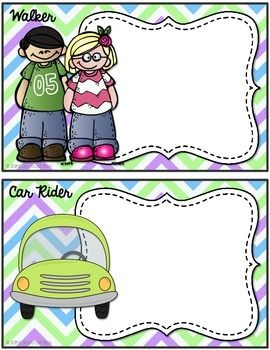 TRANSPORTATION CHART - bus rider, walker, car rider, bike rider, after-school care