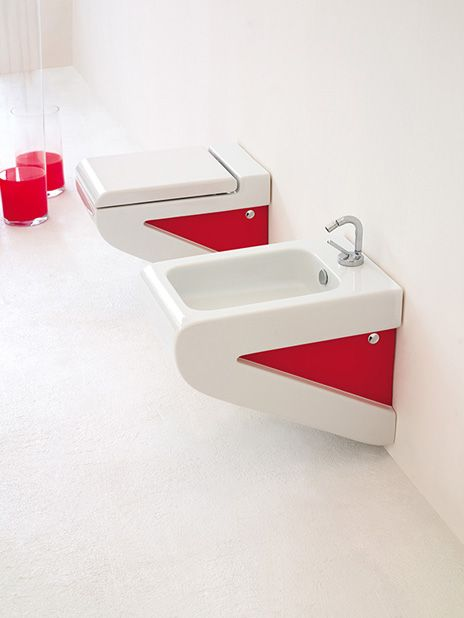 #Artceram #Jazz #Sanware #red - something so uniquely different to joosh up your bathroom space! from reevolve.co.za