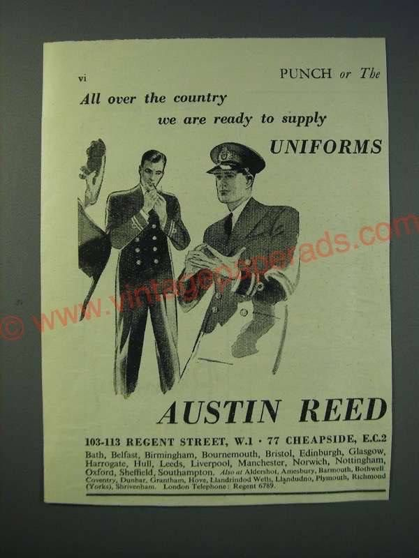 Er1174 1942 Austin Reed Uniforms Ad All Over The Country W Austin Reed Vintage Ads Vintage Advertisements