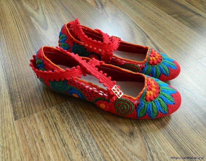 freeform crochet shoes