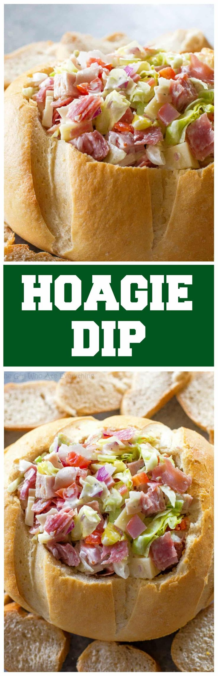 This Hoagie Diprecipe tastes just like a sub sandwich from Subway but in dip form. This appetizer should really be called Hoagie Spread because the best way to eat it is to spoon it on top of slices of bread.