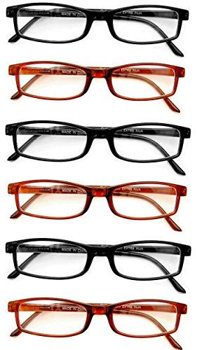 Extra Pair® Value Eyes Plastic Frames 6 Pack - Incredible Value, 2.50. Covered By The Boomer Eyeware No Problem 30 Day Full Refund Policy. All Plastic. Keep a Pair Everywhere! Products pictured are not an exact representation of styles and may not be the actual styles shipped. Fits Most Face Sizes. You may receive all Black, all Demi Tortoise or some of each. Assorted. A Note on Colors -You may receive all Black, all Tortoise or both assorted. You are covered by the Boomer Eyeware...