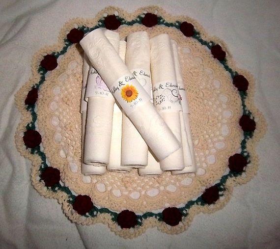 150 Sunflower Wedding Napkin Ring Cuffs by creatingapapermemory, $14.25
