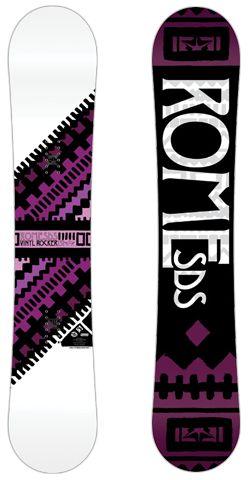 Rome Vinyl Rocker Snowboard | Rome Snowboard Design Syndicate 2013