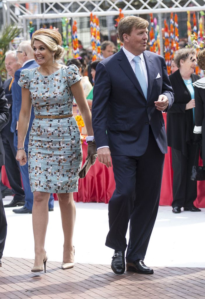 "ZOOM ZOOM ""DRESS CODE"" QUEEN MAXIMA AT LOW COUNTRIES IN AMSTERDAM KINGSDAY"