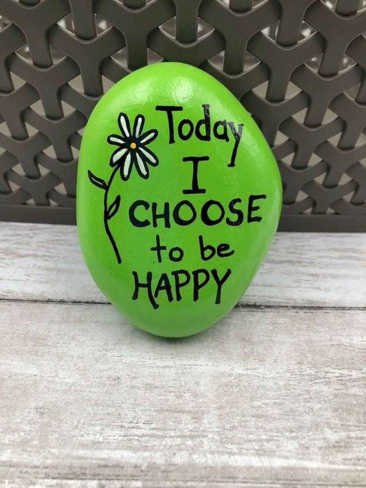 35 Awesome Painted Rocks Quotes Design Ideas (27