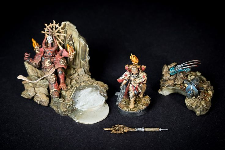 Bernadette, Mother, Superior, Sisters of Battle, W40k, Diorama – Trolls Under the Bridge