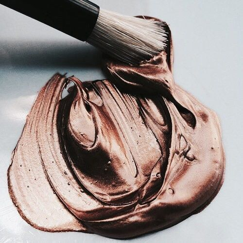Pinterest: dopethemesz ; rose gold/copper dreams ; nail polish? paint? metallic beauty