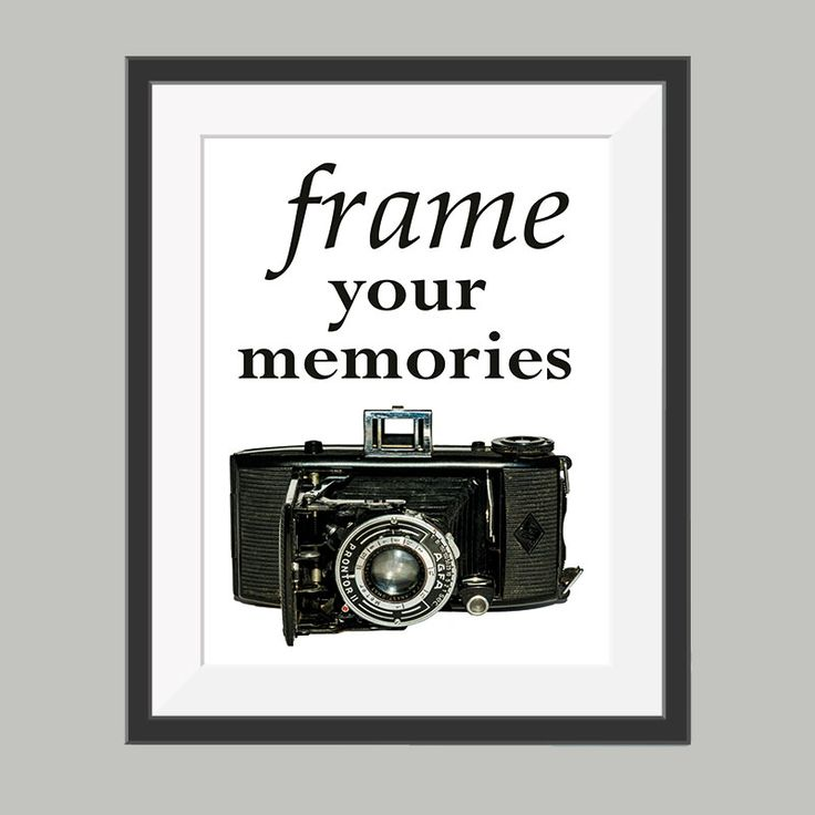 frame your memories poster
