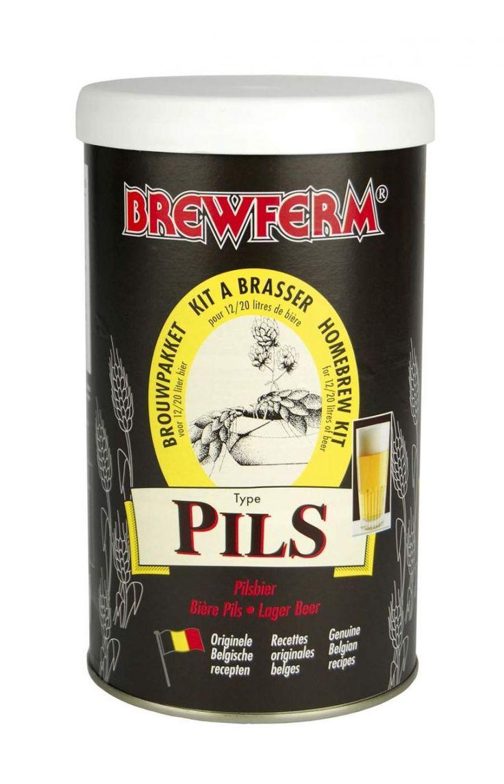 BREWFERM Pils (Pilsner)    Tüm dünyada ve ülkemizde en çok bilinen lezzetli Pils (Pilsener) birası tarifiyle hazırlanmıştır. Altın renginde, hafif ve susuzluk giderici bir biradır.Brewferm Pils bira kitinin özellikleri:  Başlangıç yoğunluğu (OG) : 1.042.  Mayalama sonrası Alkol oranı : %4,5  20 ve 12 litre seçenekleri ile.  #beer #brewferm #bira #Pils