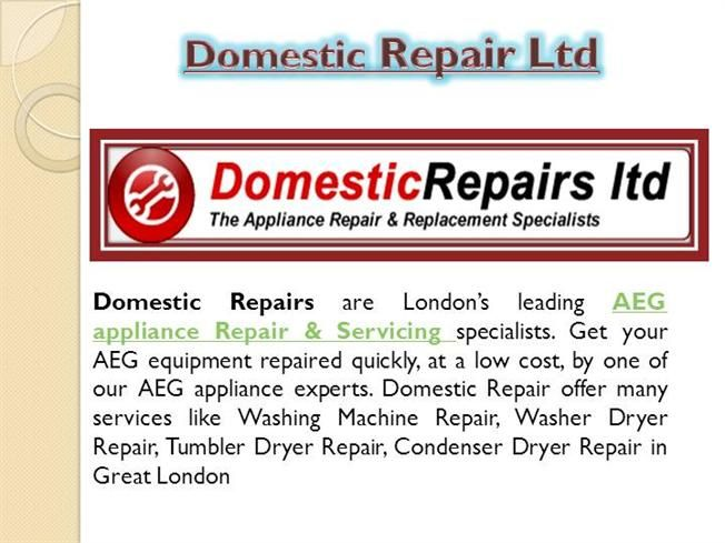 Domestic Repairs are London's leading AEG Appliance Repair & Servicing specialists. Get your equipment repaired quickly, at a low cost, by one of our #AEG #appliance experts. Call us FREE Now On: 0800 0189 567.