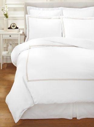 55% OFF Garnier-Thiebaut Nice Hotel-Style Duvet Set (White/Khaki)