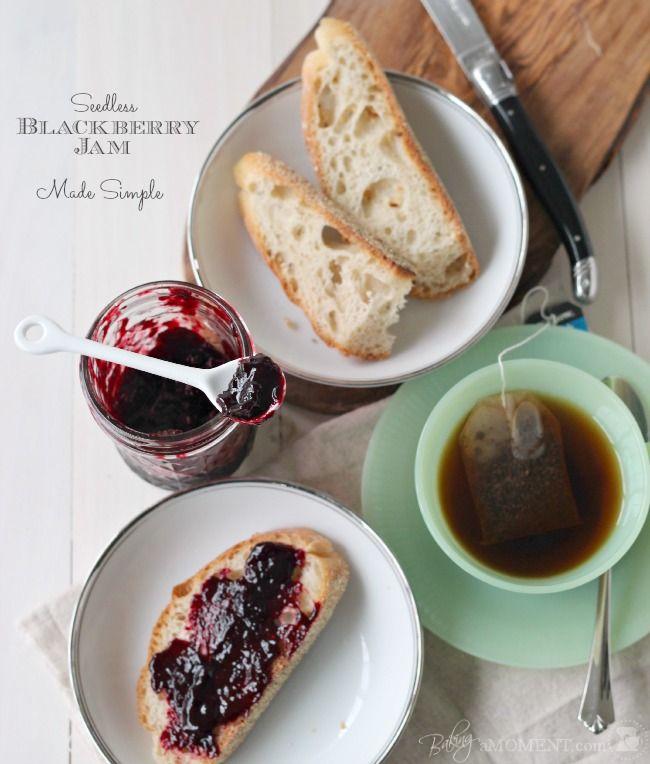 Baking A Moment: How to Make Seedless Blackberry Jam (No Pectin)