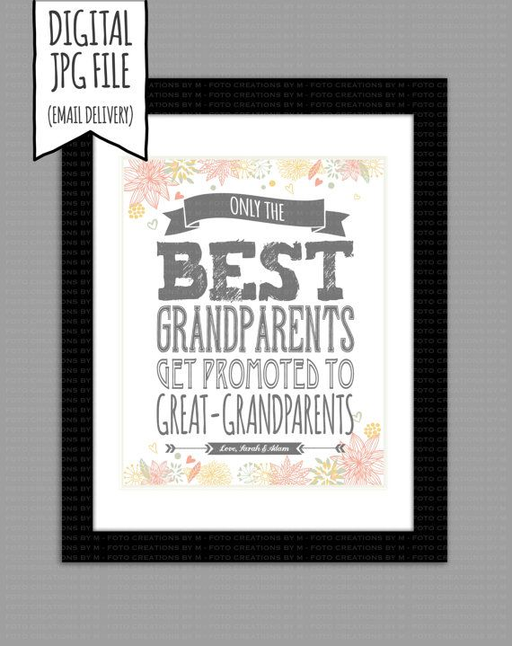 Custom Pregnancy Announcement  Only the Best Grandparents Get