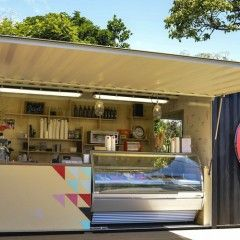 New Opening: Island Gelato Company - In a delightfully revamped little shipping container opens on Waiheke Island.