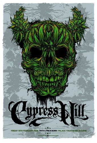 Cypress Hill Concert Poster by Ken Taylor