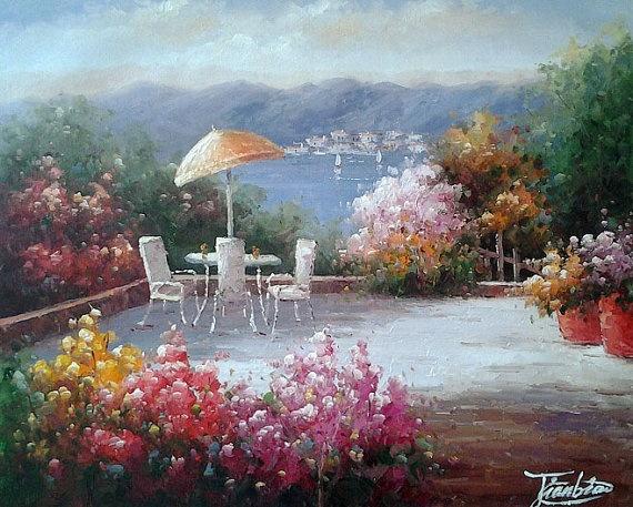 Beautiful Landscape Oil Painting On Canvas Modern Art