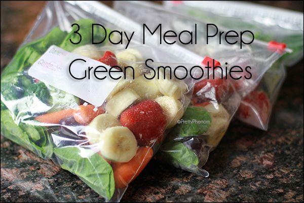 3 Day Breakfast Meal Prep: Green Smoothies - Pretty Phenom