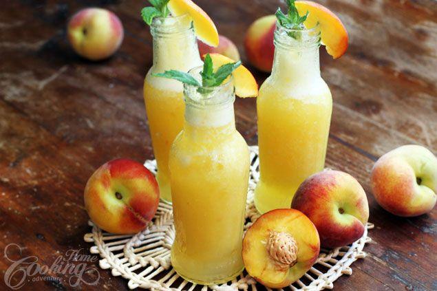 Summer Peach Drink :: Home Cooking Adventure
