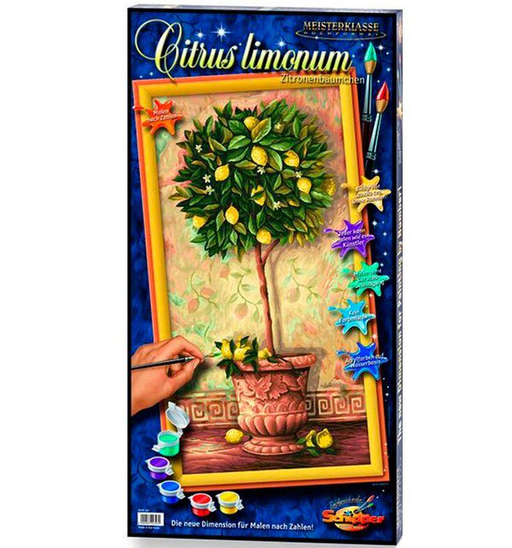 Раскраска по номерам Schipper Hochformat Лимонное деревоРаскраски