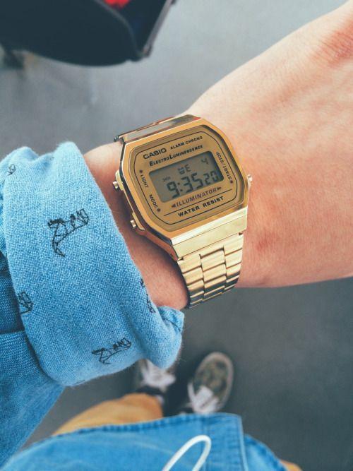 Relógio Dourado, Relógio Masculino. Macho Moda - Blog de Moda Masculina: Relógio Dourado, Dicas para Usar e Onde Encontrar! Moda Masculina, Moda para Homens, Roupa de Homem, Acessórios Masculinos