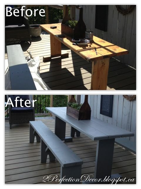Outdoor Harvest Table Makeover