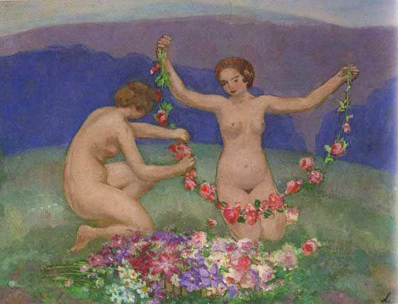 Jeunes Filles aux Fleurs (Young Girls in Flowers)