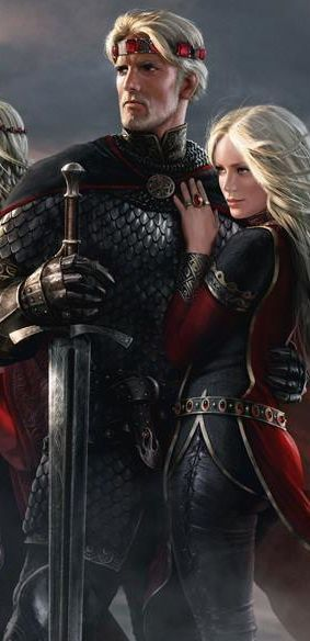 Fantasy Art - they remind me of King Gregor and Queen Aria of Maramyr from The Book of One series.