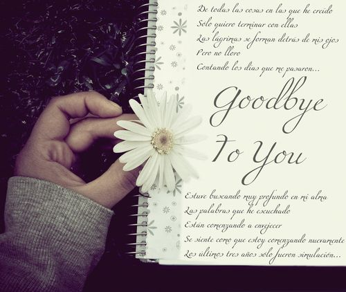 Goodbye Love Letter - This letter is written from a boyfriend to a