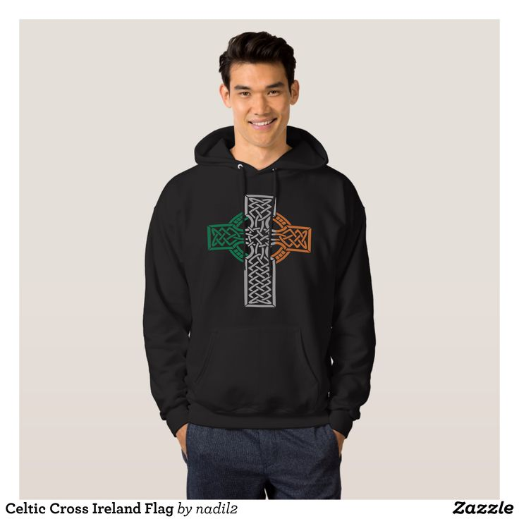Celtic Cross Ireland Flag Hoodie - Stylish Comfortable And Warm Hooded Sweatshirts By Talented Fashion & Graphic Designers - #sweatshirts #hoodies #mensfashion #apparel #shopping #bargain #sale #outfit #stylish #cool #graphicdesign #trendy #fashion #design #fashiondesign #designer #fashiondesigner #style
