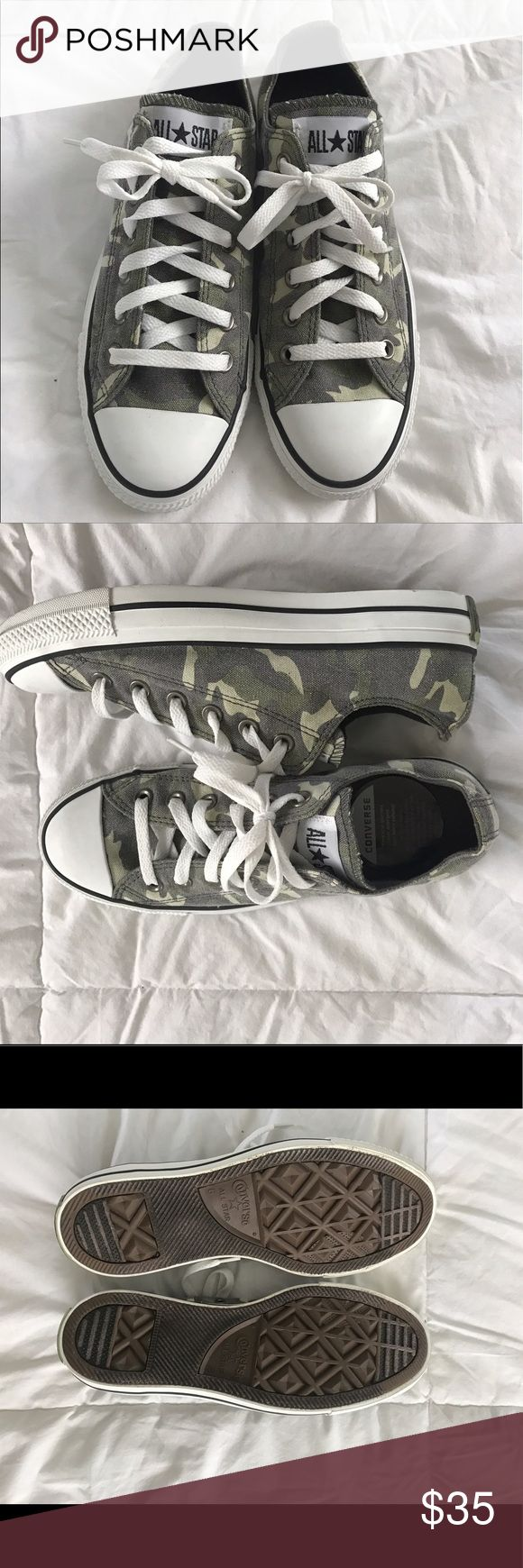 Selling this Camo converse on Poshmark! My username is: sydneyhunt2. #shopmycloset #poshmark #fashion #shopping #style #forsale #Converse #Shoes