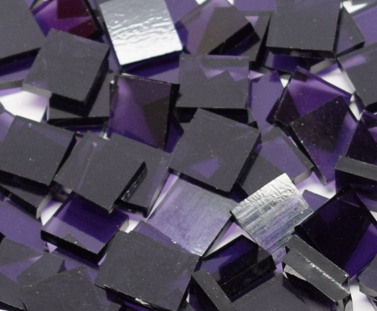 """CLOSEOUT SALE: 1"""" x 1"""" Grape Artique Stained Glass Mosaic Tiles (25 tiles) - Mosaic Tile Mania"""