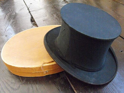 Collapsible Top Hat Box 1920 Top Hat Hats Hat Box