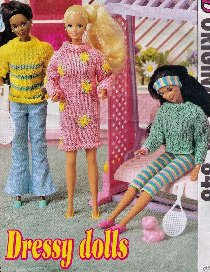 Knitting Patterns For Bratz Doll Clothes : 38 best images about DOLLS & DOLLS CLOTHES - KNITTING ...