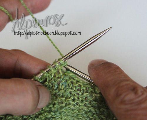 Knit the decorative slit