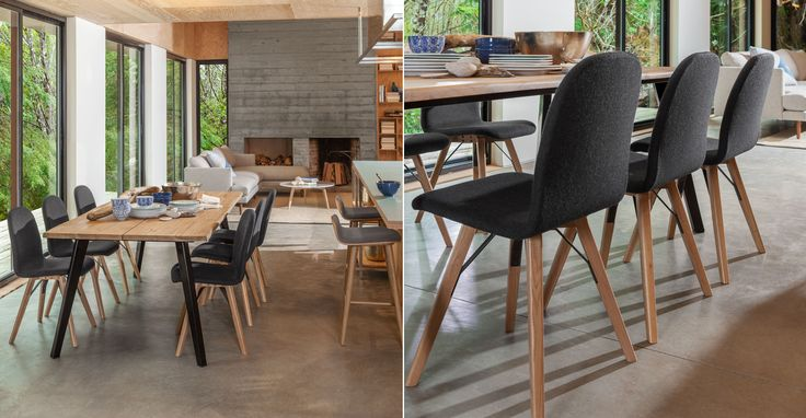 Mecana Coal Gray Oak Dining Chair - Dining Chairs - Article | Modern, Mid-Century and Scandinavian Furniture
