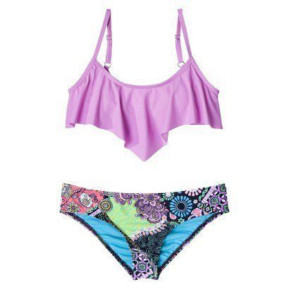 Target Junior S 2 Piece Bikini Swimsuit Lilac F 14 99