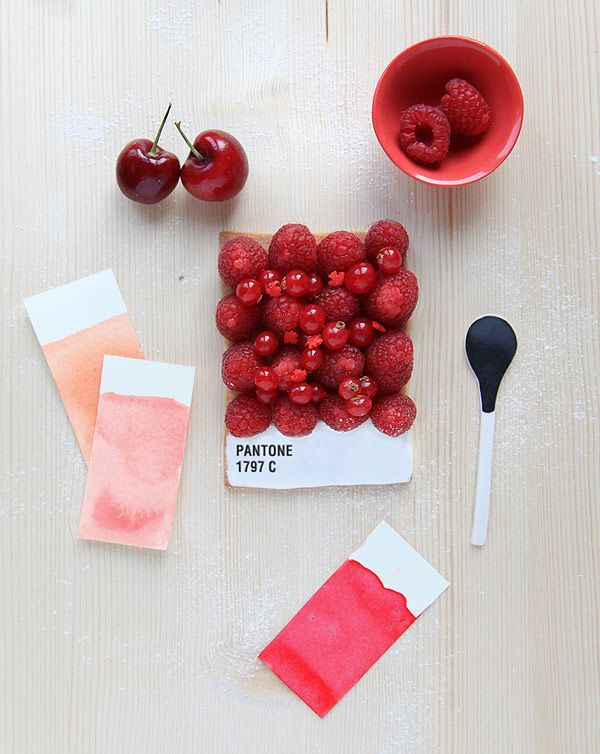 Pantone fruit tart from @anthology