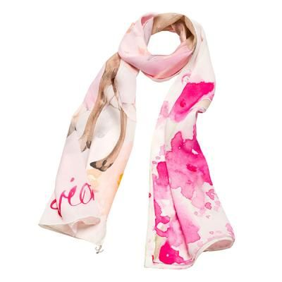 """L'avion The Fawn Scarf. Illustration by Kelly Smith for L'avion - Jardin Collection. """"Who doesn't love bambi amongst the cherry blossoms?"""" Agreed, who wouldn't? =D"""