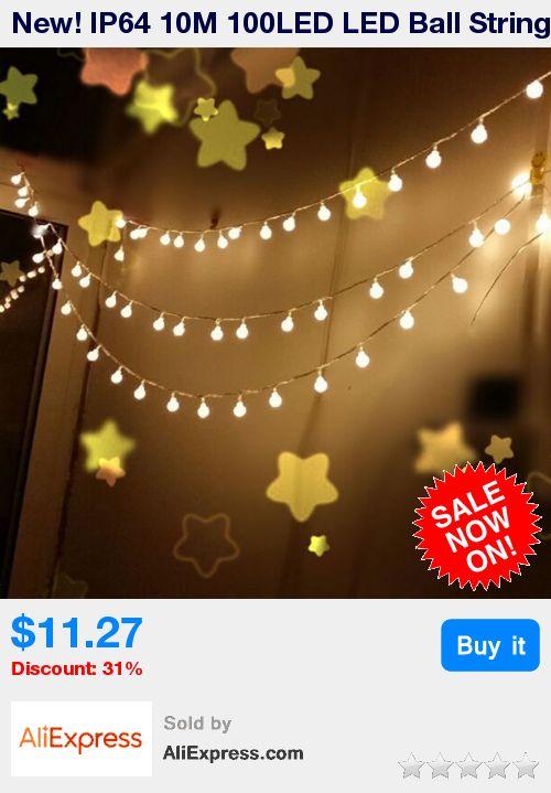 New! IP64 10M 100LED LED Ball String Light Christmas Festival Lamp Decorative Garland Strings Lighting Ball Lights 110V US Plug * Pub Date: 23:14 Apr 10 2017