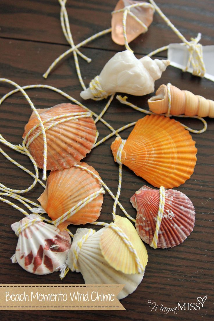 Beach Memento Wind Chime: what a beautiful, yet inexpensive way to remember a beach trip. #BHGSummer