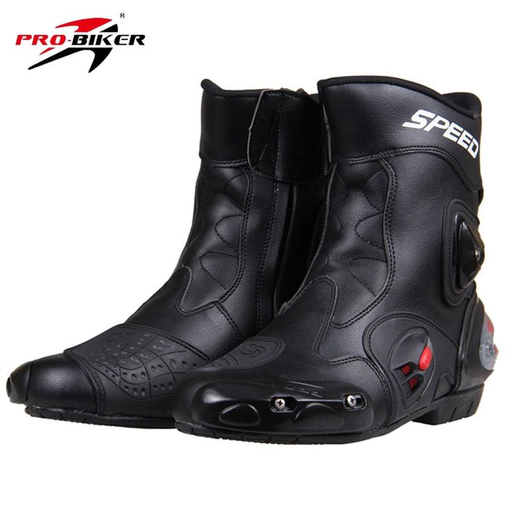 [Visit to Buy] PRO-BIKER SPEED BIKERS Motorcycle Racing Boots Motorcycle Riding Boots Men Motocross Off-Road Motorbike Boots Moto Shoes A004 #Advertisement