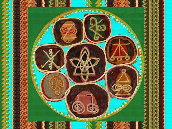Karuna Reiki Healing Symbols Textures Patterns Background Designs And Color Tones N Color Shades Av
