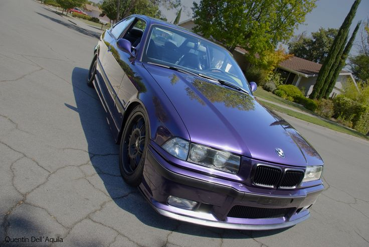 When I still had a tiny lip and plastic headlights  1998 BMW M3 Techno Violet Coupe Purple Stance Low Slammed Racecar LTW Racing Fast Mtechnic Mpower Slicktop Catuned Goals Bavarian Motorsport Rare Want Need