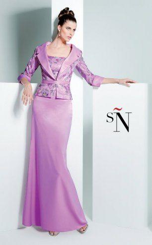 Vestido de fiesta madrina Sonia Peña 110043