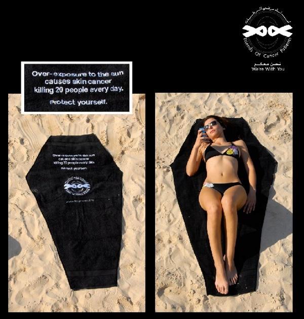 Skin Cancer - Guerrilla Marketing great-advertisements
