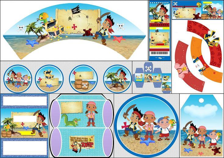 Jake y los Piratas: Kit para Imprimir Gratis.