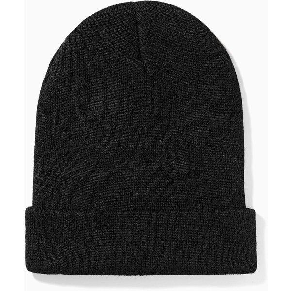 Hip Hop Hooray Beanie (23 CAD) ❤ liked on Polyvore featuring accessories, hats, beanies, black beanie, beanie hats, white beanie, black beanie hat and stitch hat